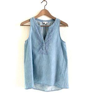Soft Joie Kerryn Casual Top Chambray Embroidered